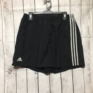 Vintage Adidas Black Nylon Shorts Mens XL Logo